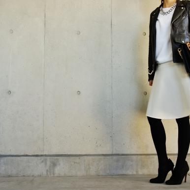 甘辛白スカート